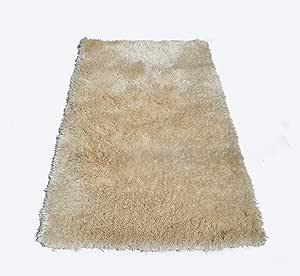 Ultimate - 长毛绒和现代蓬松,高*室内长绒地毯,适合家居装饰,尺寸:12.70 厘米 x 17.78 厘米,青色。 象牙色 3'x5'