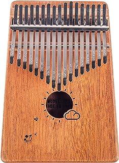 Kalimba 17 键拇指钢琴 - Mbira - 实心红木和便携带手提袋和说明书