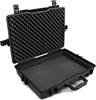 "CASEMATIX 17.3"" 笔记本电脑硬壳适用于 Dell Alienware 笔记本电脑和附件,适合 Alienware Area 51M AW17R4、Alienware AW15R3 及高达 18 英寸的笔记本电脑,采用定制泡沫防水瞄准装置设计"