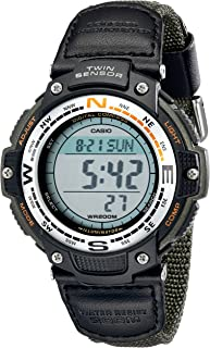 Casio 卡西歐 男式 SGW100B-3V 數字 羅盤 雙傳感器 運動手表
