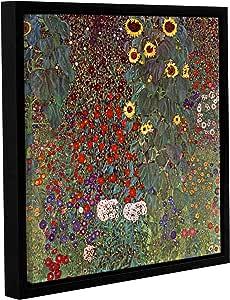 """ArtWall Gustav Klimt's Sunflower Gallery Wrapped Floater Framed Canvas, 24 by 24"""""""