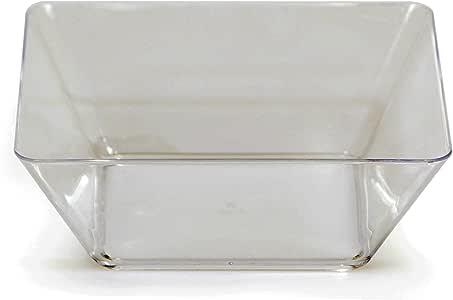 "Creative Converting 4 只装方形塑料碗,5 英寸,透明 透明 5 ""英寸 BB055432"