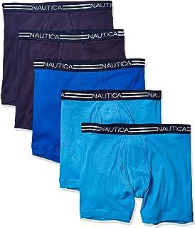 Nautica 男士经典棉质平角内裤多条装 Peacoat/Aero Blue/Sea Cobalt- 5 Pack XX-Large