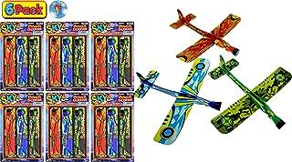 JA-RU Hang Glider 飞翔弹弓 3 件套三角飞机玩具 9 英寸(约 22.9 厘米)(1 件装)派对用品户外玩具游戏泡沫飞机*礼品玩具儿童2341-1A 每包6条 3 Bundle Pack
