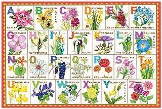 eeBoo 儿童拼图,100 片 Flower Alphabet