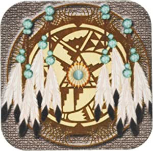 3dRose cst_108094_2 Designer One of A Kind Native American Art-Soft Coasters, Set of 8