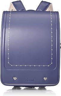 Kids Ami 双背带书包 Elegant Clarino Flat Cube 高级人造革方形书包 可收纳A4大小文件夹 日本制造 91105