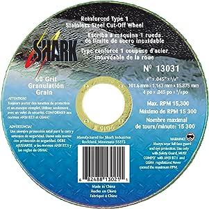 Shark Welding 13030 Shark 15.24cm x 1.27cm x 2.22cm Ss 60支磨类型 1 切割轮 25-Pack 13031