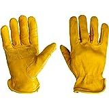 G & F 优质真粒面牛皮手套带加固贴膜,3 双装 X大码 6203XL-3