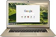 Acer宏碁14寸超薄本 14英寸全高清屏,铝制外壳,英特尔赛扬n3160,4GB LPDDR3,32GB,铬金,CB3-431-C0AK