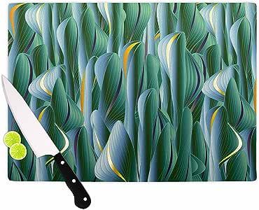 "KESS InHouse Angelo Cerantola ""Luscious Green""绿色蓝色数字切割板,29.21 厘米 x 20.96 厘米,多色"