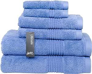 Chortex Zero Twist 棉质毛巾 6 件套 蓝色(Chambray) Set of 6 Towels Ultimate