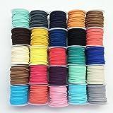 PEPPERLONELY 品牌,25 卷人造皮革仿麂皮串珠绳 1# unknown