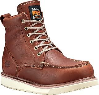 Timberland PRO 男士 53009 坡跟鞋底 6英寸软头靴子