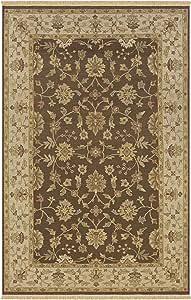 Rizzy Home EL0525 Elegance 2-Feet 6-Inch by 8-Feet Area Rug, Brown