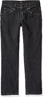 LEE 男童修身直筒牛仔裤
