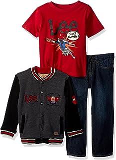 Lee 男孩3PC 羊毛长裤套装
