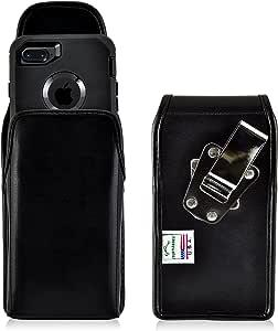 iPhone 8 iPhone 7defender 美国制造 Black Leather/Metal Belt Clip Vert