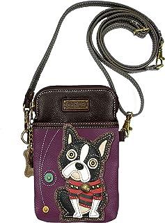 Chala Boston Terrier Cellphone Crossbody Handbag - Convertible Strap