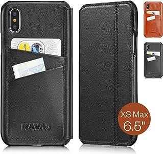 KAVAJ iPhone Xs Max 6.5 英寸皮革手机壳达拉斯黑色或白兰地棕色Dallas  黑色