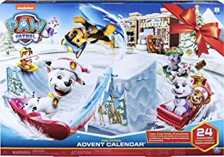 Paw Patrol 2019 Advent 日历-包括24款值得探索的礼物-适合3岁以上儿童,多色