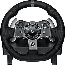 Logitech罗技G920 英标插头Driving Force方向盘 用于Xbox One游戏机和电脑
