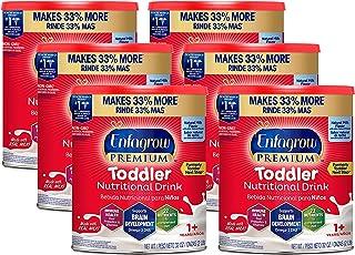 Mead Johnson 美赞臣 Enfagrow Next Step优质幼儿营养奶粉,1岁以上,天然牛奶风味,Omega 3 DHA,益生元,(包装可能有所不同),来源于Enfamil制造商,32盎司/约907.18克 罐装(6罐)