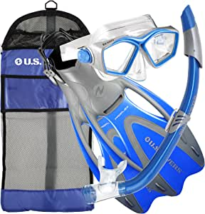 美国 Divers 成人图标面罩/海贝雷兹浮潜/专业露跟鞋钉/齿轮包