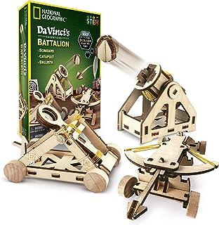 NATIONAL GEOGRAPHIC -达芬奇的DIY科学与工程构造套件–建造三种功能性的木制模型:弹射器,轰炸机和投石机