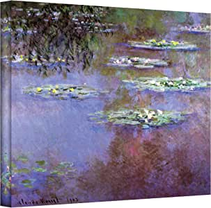 Art Wall Sea Roses II Gallery Wrapped Canvas by Claude Monet, 14 by 18-Inch