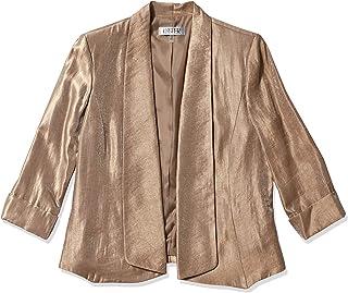 Kasper 女式金属飞行夹克,带翻边袖口