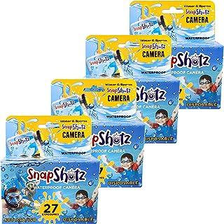SnapShotz 一次性防水泳池水下 35 毫米相机,4 件装