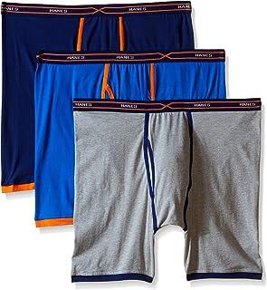 Hanes 男式 3 条装 X-Temp Active Cool 长腿平角内裤