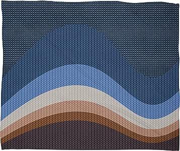 Deny Designs Viviana Gonzalez 纹理抽象 3 羊毛抱毯 中 50470-flemed