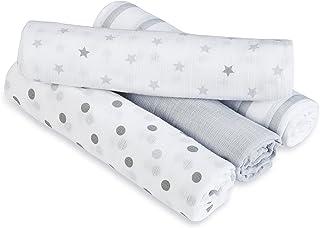 aden + anais 的 Aden 棉布襁褓毯 4 件装 鸽子