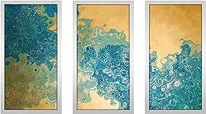 "Picture Perfect International 704-1984-1224 Mark Lawrence ""Isaiah 45 3 MAX"" Framed Plexiglass Wall Art, Set of 3, 13.5"" W x 25.5"" H x 1"" D"