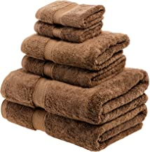 Superior 900克埃及棉6件毛巾套件 巧克力色