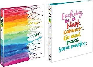 Avery + Amy Tangerine 设计师活页夹,2.54 厘米圆形戒指,175 张容量 活页夹 2 Binders Watercolor & Canvas (1ea)
