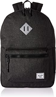 Herschel Heritage 背包 Black Crosshatch/Silver Reflective Rubber Youth X-Large 22L