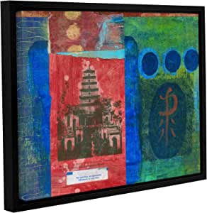 """ArtWall Elana Ray's Good Fortune Pagoda Gallery-Wrapped Floater-Framed Canvas, 24 x 32"""""""