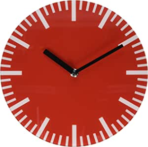 Refelx Non-Ticking Silent Acrylic Wall Clock, Small, Color, Red