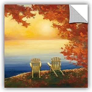 "ArtWall 2pur015a3636p Julia Purinton's Autumn Glow II Removable Wall Art, 36"" x 36"""