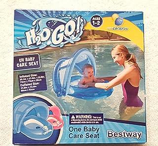 H2OGo UV CarefulTM 50+ UPF 婴儿护理座椅(蓝色)- 覆盖游泳池浮动