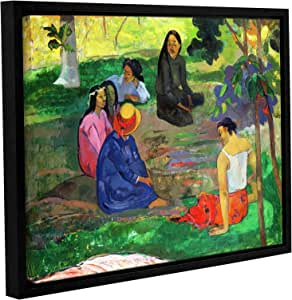 """ArtWall Paul Gauguin's Les Parau Parau The Gossippers Gallery-Wrapped Floater-Framed Canvas, 14 x 18"""""""