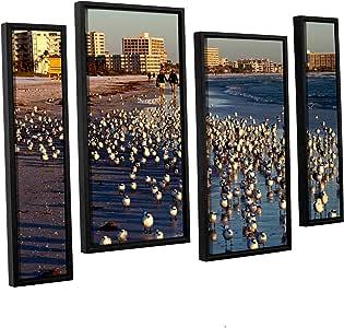 "ArtWall Lindsey Janich '0700A' 4 Piece Floater Framed Canvas Artwork, 24 by 36"""