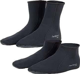 NeoSport 2mm Neoprene Snorkel Low-top Socks, Black - Size 15