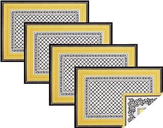 Villeroy&Boch 德国唯宝 棉织物双面餐垫(4套),彩色,14英寸 x 20英寸(约35.56厘米 x 50.8厘米)