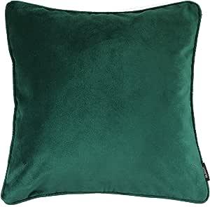McAlister Textiles 哑光天鹅绒靠枕与枕套 祖母绿 49cm x 49cm 192514MVCL