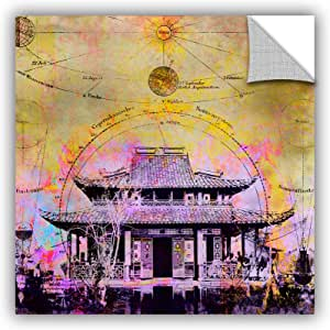 "ArtWall Elana Ray's Celestial Temple Appealz Removable Graphic Wall Art, 14 x 14"", Multicolor"