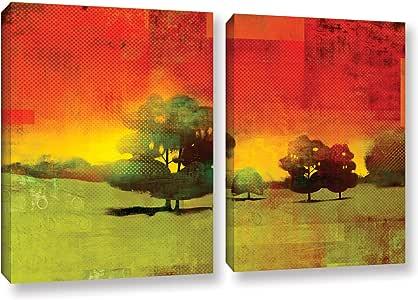"ArtWall 2 Piece Greg Simanson's Tree Study Gallery Wrapped Canvas Set, 32 x 48"""